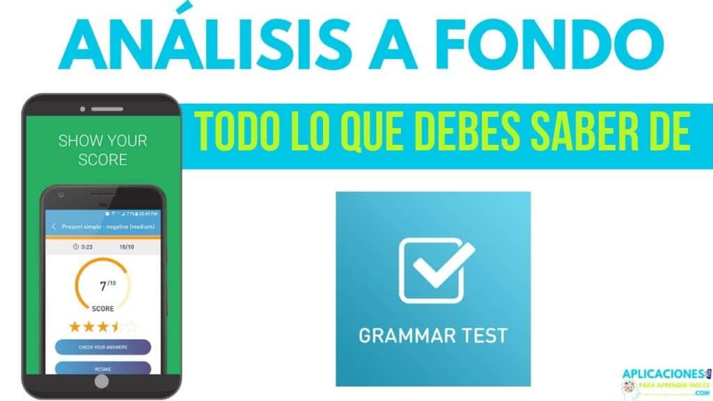 Analisis a fondo de la aplicacion Ejercicios de gramática inglesa