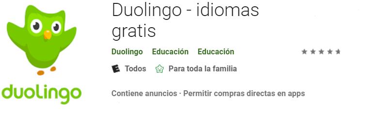 Descargar Duolingo para niños