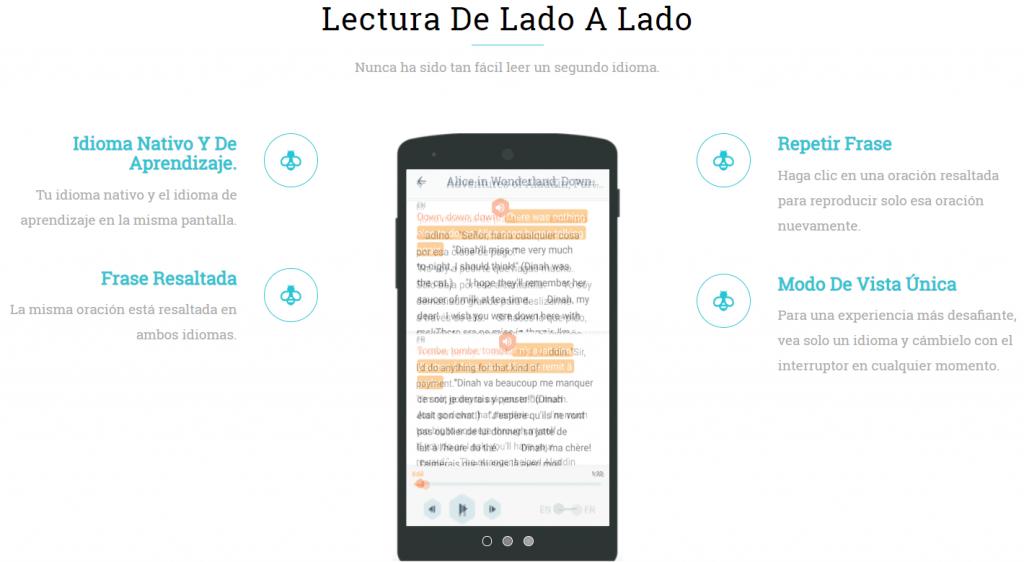 aprender idiomas con beelinguapp, audiolibros y libros