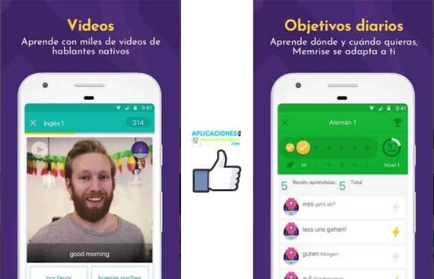capturas de pantalla de Memrise app
