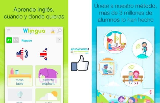 capturas de pantalla de Wlingua app