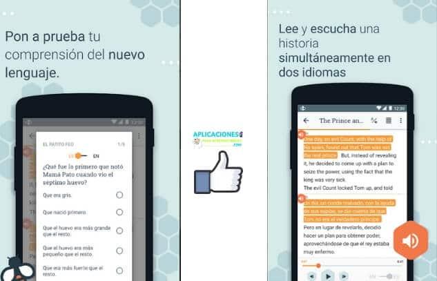 capturas de pantalla de busuu app